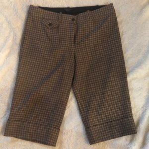 BCBGmaxazaria cropped plaid ladies trousers pants